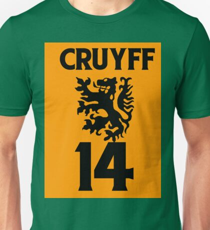 Johan Cruyff, Ajax, Barcelona, Barca, dutch, netherlands, holland, oranje Unisex T-Shirt
