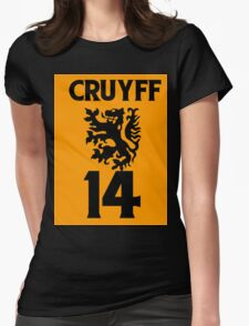 Johan Cruyff, Ajax, Barcelona, Barca, dutch, netherlands, holland, oranje Womens Fitted T-Shirt