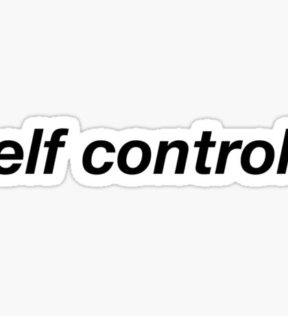 Self-Control Sticker