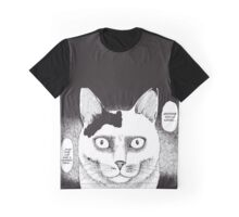 Cursed Face Cat Graphic T-Shirt
