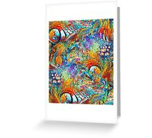 Colorful Iguana Art - Tropical Two - Sharon Cummings Greeting Card