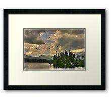 Geese Over Jericho Lake - Original 1 of 10 Framed Print
