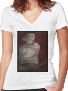 Demo3 Women's Fitted V-Neck T-Shirt