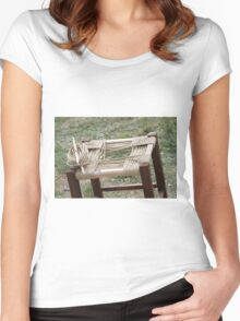 cane chair Women's Fitted Scoop T-Shirt