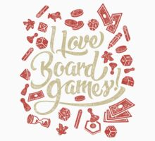 I Love Board Games Baby Tee