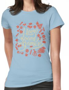I Love Board Games Womens Fitted T-Shirt