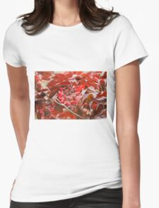 red maple Womens Fitted T-Shirt