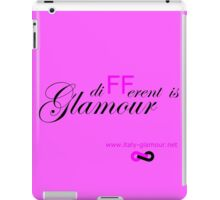 Different is Glamour - Pink iPad Case/Skin