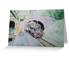 Steaming Into Rothley Greeting Card
