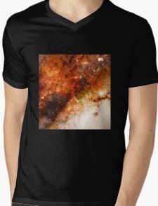 Nucleus of Galaxy Centaurus A - Watercolour Mens V-Neck T-Shirt