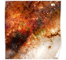 Nucleus of Galaxy Centaurus A - Watercolour Poster