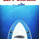 Left Shark Parody - Jaws - Funny Movie / Meme Humor by badbugs