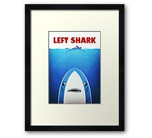 Left Shark Parody - Jaws - Funny Movie / Meme Humor Framed Print