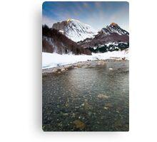 River Veral in Zuriza Canvas Print