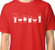 Collection of Vintage Beer Glasses Classic T-Shirt