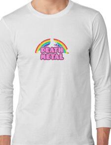 DEATH METAL! (Funny Unicorn / Rainbow Mosh Parody Design) Long Sleeve T-Shirt