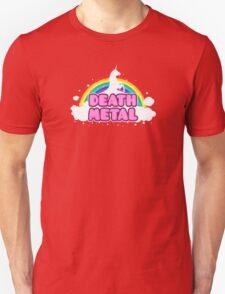 DEATH METAL! (Funny Unicorn / Rainbow Mosh Parody Design) Unisex T-Shirt
