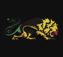 Heraldic Grunge Reggae Lion Heraldry Style One Piece - Long Sleeve
