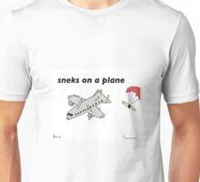 Sneks on a Plane - A Tiny Snek Comic Unisex T-Shirt