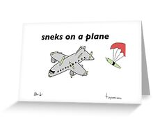 Sneks on a Plane - A Tiny Snek Comic Greeting Card