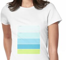 blue, light blue or fresh limonade Womens Fitted T-Shirt