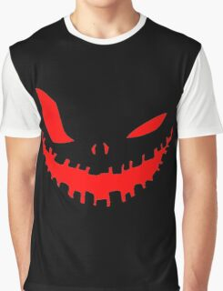 Scary Devil Face for Halloween Graphic T-Shirt
