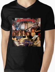 hard rock band poster and tshirt style airborne Mens V-Neck T-Shirt