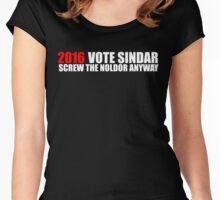 VOTE SINDAR Women's Fitted Scoop T-Shirt
