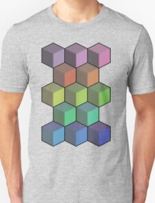 Colorful Cube Cascade! Unisex T-Shirt