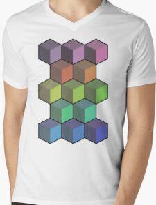Colorful Cube Cascade! Mens V-Neck T-Shirt