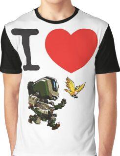 I Heart Bastion Cute Spray Graphic T-Shirt