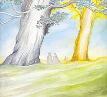 The Two Trees of Valinor by Peter Xavier Price