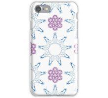 ornament like violet lilacs and blue nine angle stars iPhone Case/Skin