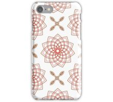 geometric weaving pink forms like flowers and four angle flowers iPhone Case/Skin