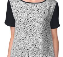 seamless skull pattern Chiffon Top