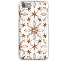six angle stars and big geometric flowers iPhone Case/Skin