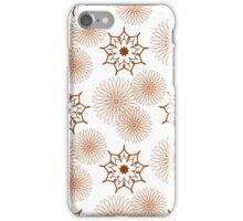 nine angle stars and chamomiles iPhone Case/Skin