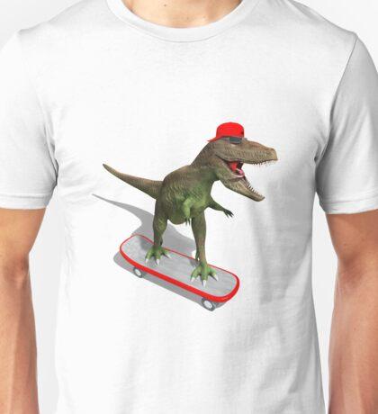 Skateboarding T-Rex Unisex T-Shirt