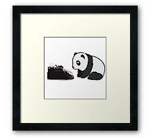 Typewriter Panda Framed Print