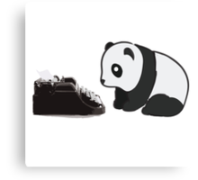 Typewriter Panda Canvas Print