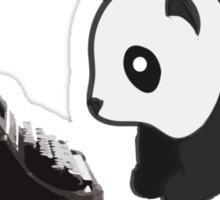 Typewriter Panda Sticker