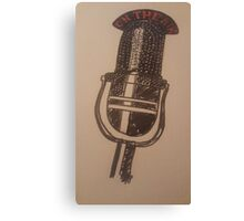 Vintage retro microphone Canvas Print