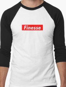 Finesse   Supreme Box Logo   White Background   High Quality! Men's Baseball ¾ T-Shirt