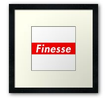 Finesse | Supreme Box Logo | White Background | High Quality! Framed Print