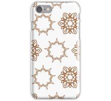 nine angle stars and six petal flowers iPhone Case/Skin