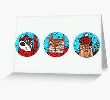 Christmas Animals (landscape) Greeting Card