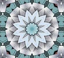 Turquoise Layers Mandala by Phil Perkins