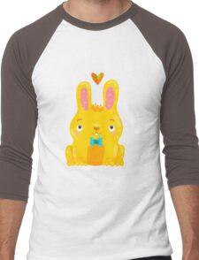 Cute Bunny Men's Baseball ¾ T-Shirt