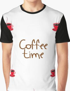 coffee time with cups of coffee Graphic T-Shirt