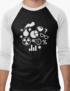 Crazy Science Pattern Men's Baseball ¾ T-Shirt